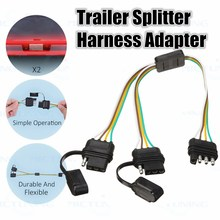 buy trailer harness wiring and get free shipping on aliexpress comkroak 2 way 4 pin trailer splitter y split wiring harness adapter for led tailgate