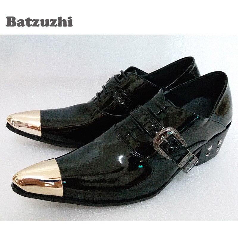 Zapatos Los Italiano Tamaño 1 Estilo Elegante Gran Batzuzhi Del model Model  Puntiagudo 38 Pie Cuero Lujo Hombre Hombres 2 Negocios Vestido 46 De Dedo  ... d2f82cf38d5