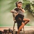 Материнство Корейского Лета Кружева Фотографии Реквизит Платья Одежда Беременность Беременные Женщины Полосатый Фотосессии Долго Dress Одежда