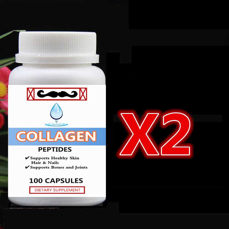2 bottle 200pcs Pure Hydrolyzed Collagen Peptides Supports Healthy Skin,Hair & Nails Supports Bones and Joints phospholipid interactions with sterols and peptides