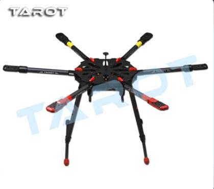 Tarot X6 Carbon Fiber Hexacopter Frame TL6X001 Umbrella Folding Arm w/ Electronic Retractable Landing Gear for FPV Photography tarot drone x6 all carbon hexa kit with retractable landing skid tl6x001