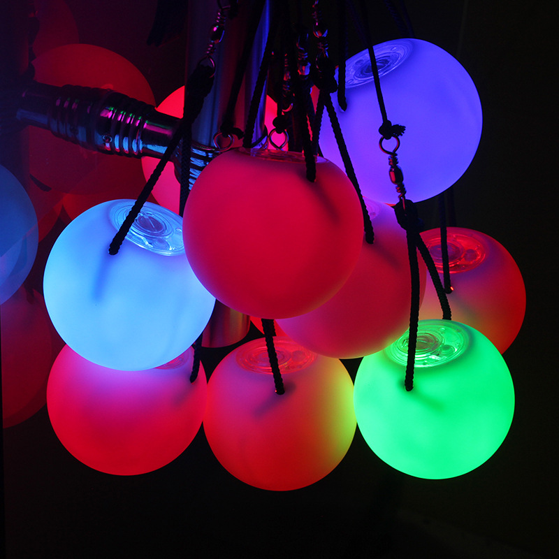 2 Pieces Balls Stage Performance LED POI Thrown Balls For Belly Dance Level Hand Props Belly Dance Accessories(China)