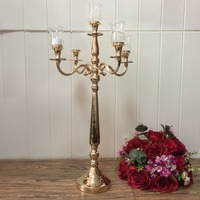 8PCS/lot free shipment gold candle holder for wedding and event decoration