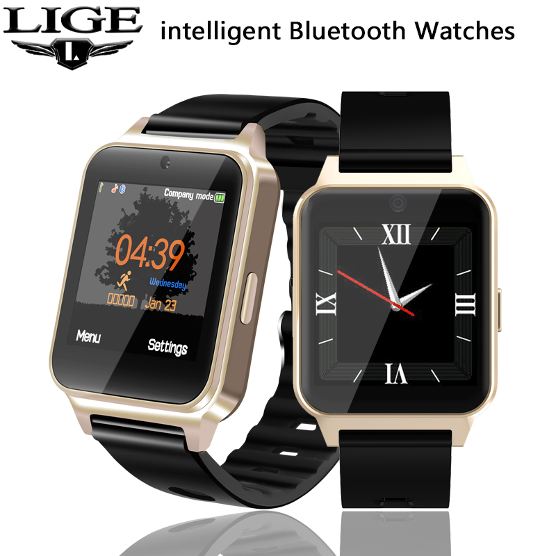LIGE 2019 Smart Phone Watch Men Women Smart LED Electronic Clock Camera Sport Pedometer For SIM TF Card Music Player Smart Watch(China)