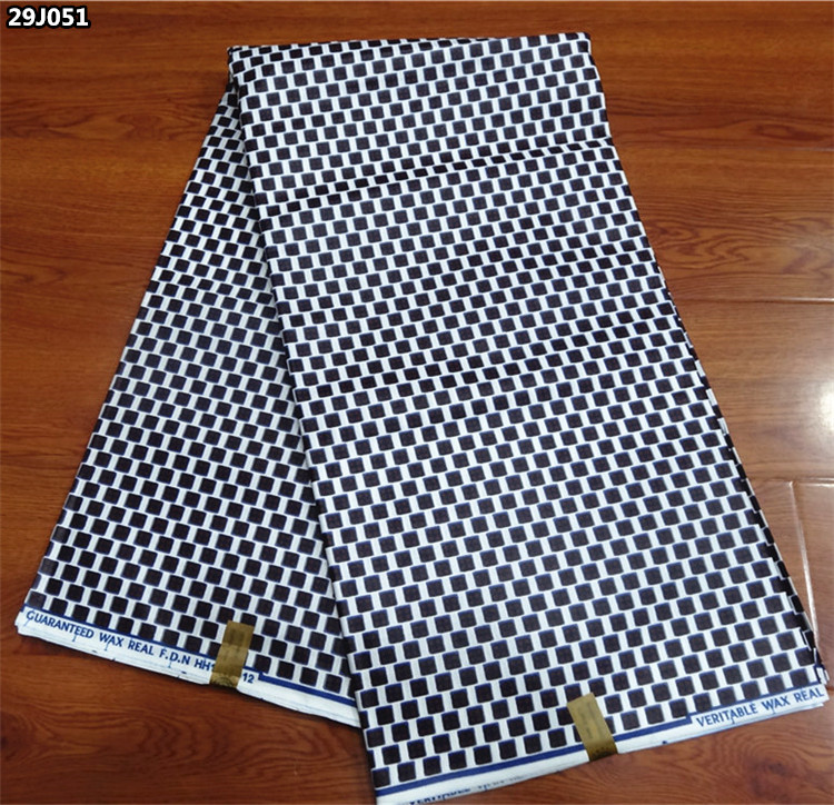Wholesale african real super wax prints fabric Nigeria ankara java wax fabric for sewing Good quality cheap price 29J051