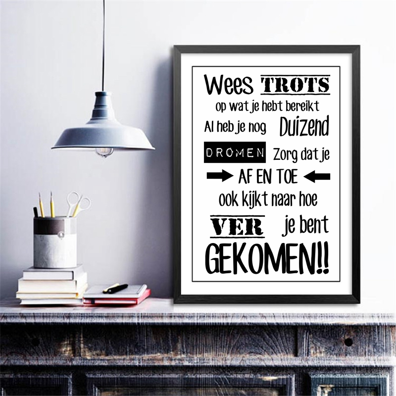 Dutch Inspirational Quotes Canvas Artwork Portray Poster Nederlands Dwelling Dwelling Room Examine Room Artwork Canvas Print Wall Decor canvas prints, portray poster, artwork portray,Low-cost canvas prints,Excessive High quality portray...