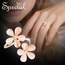 Special European and American cherry pollen opening ring elegant flower forest Paris midnight blossoms