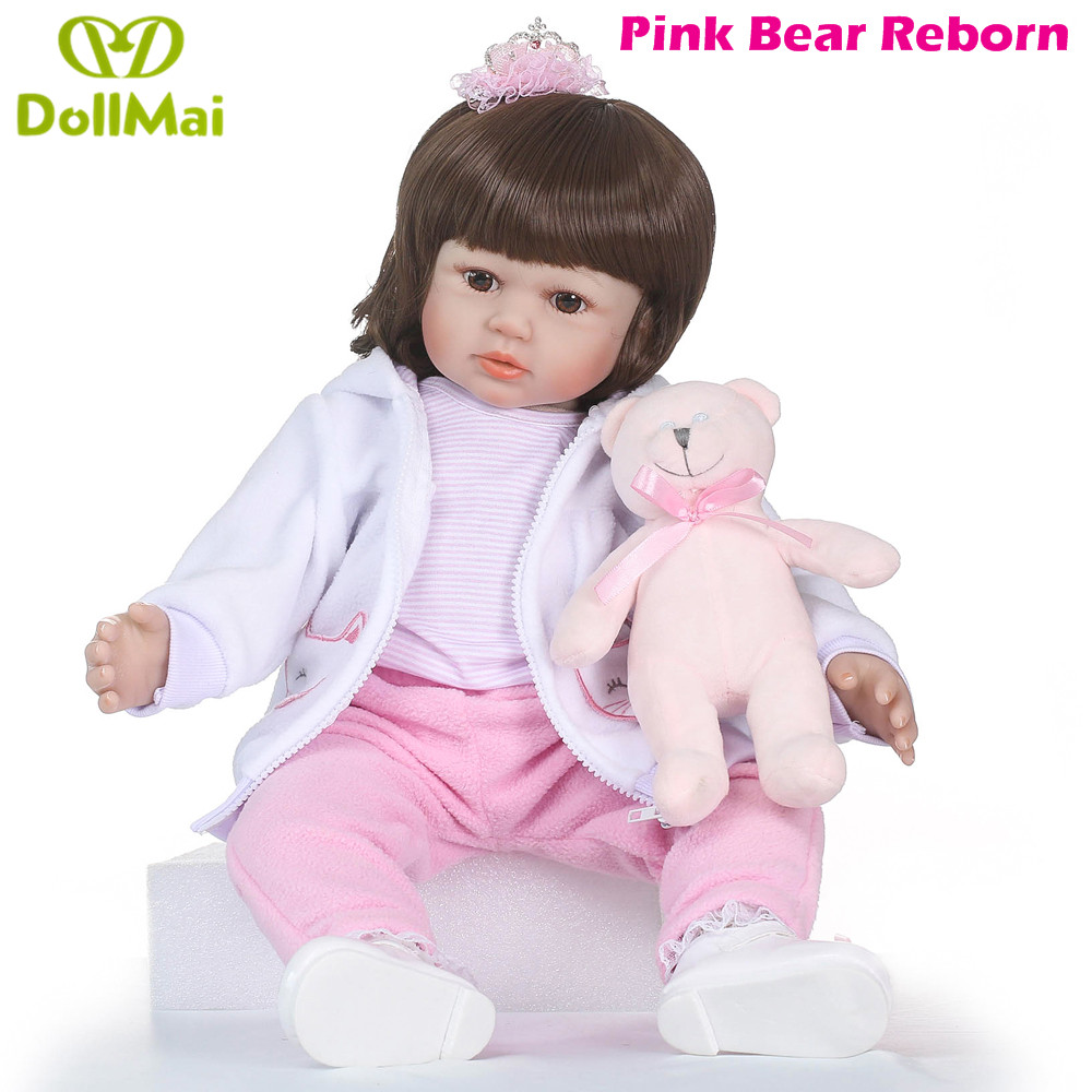 Boutique Silicone Reborn Baby Doll Toys 58cm Princess Toddler Babies Like Alive Bebe Girls Brinquedos Limited Collection GiftBoutique Silicone Reborn Baby Doll Toys 58cm Princess Toddler Babies Like Alive Bebe Girls Brinquedos Limited Collection Gift