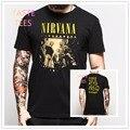 Moda Homens NIRVANA 2 lado T Camisa Do Punk Do Vintage do Metal Pesado Ricky Marca O Pescoço de Algodão de Manga Curta T-shirt Hip Hop Casuais Tshirt