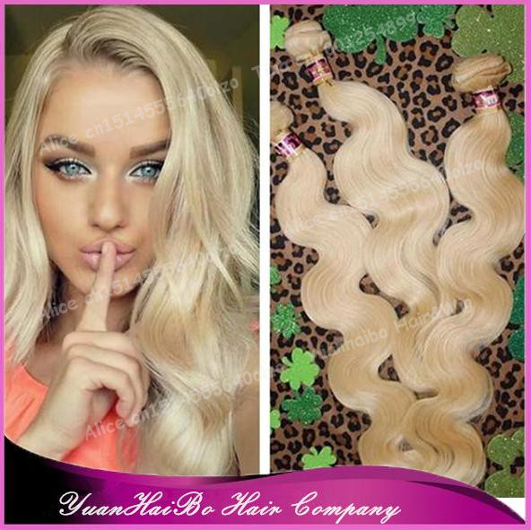 Best 7a Quality 613 Malaysian Body Wave Virgin Blonde Hair Weave