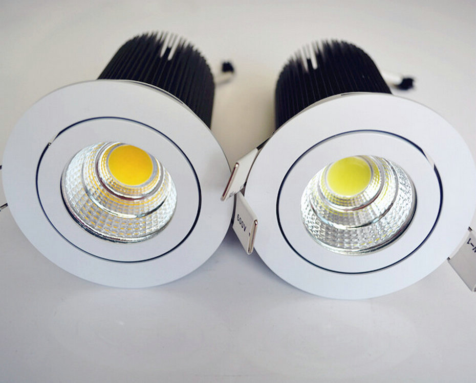 20W LED downlight COB 20W Dimmable LED Spot light LED ceiling lamp Free shipping
