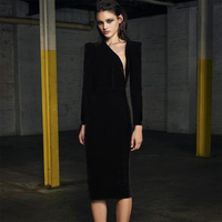 2017 Newest Winter Bandage Dress Women Celebrity Party Black Long Sleeve Sexy Night Out Dress Women