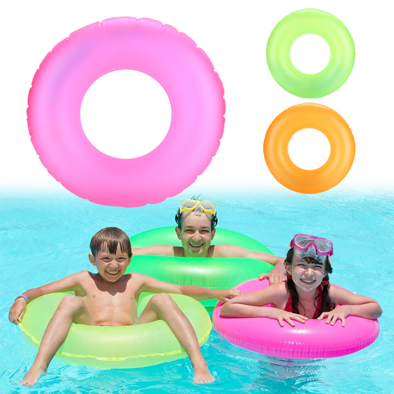 Inflatable Noctilucence kids Swimming Circle Baby Swimming Pool Swimming Ring Cute PVC Water Creative Lovely