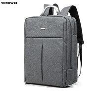 YNMIWEI Laptop Backpack Waterproof Nylon Rucksack Universal 12 13 3 15 Inch Computer Shoulder Grey Black