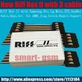 2017 caixa de 2 caixa riff riff riff box ii v2 para lg & htc, samsung celulares reparação e flash (pacote com 3 cabos)