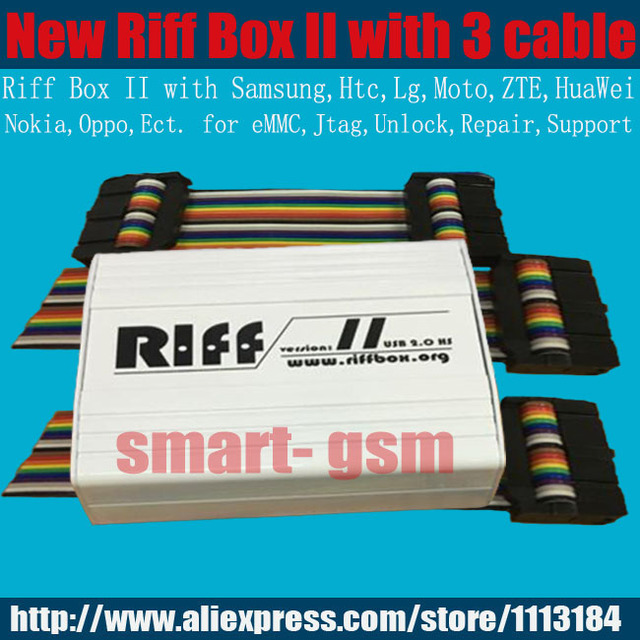 US $120 8 |2018 Riff Box 2 Riff box v2 Riff box II for LG&HTC, Samsung  mobiles Repair and Flash(package with 3 Cable )-in Telecom Parts from