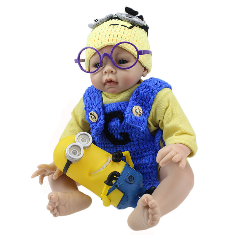 Cartoon Style 22'' 55 cm Reborn Baby Doll So Cute And Lovely Realistic Baby Stuff Dolls Kids Birthday Gifts NPKCOLLECTION cute elephant style baby polyester music box doll blue orange pink