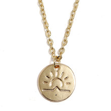 Spring Summer Sun Pineapple Round Charm Choker Pendant Necklace for Women Men Gold Color Wave Cactus Drop Jewelry Gift Souvenirs(China)