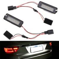 2pcs LED Number White 6000K License Plate Light For VW GOLF MK4 MK5 MK6 PASSAT EOS
