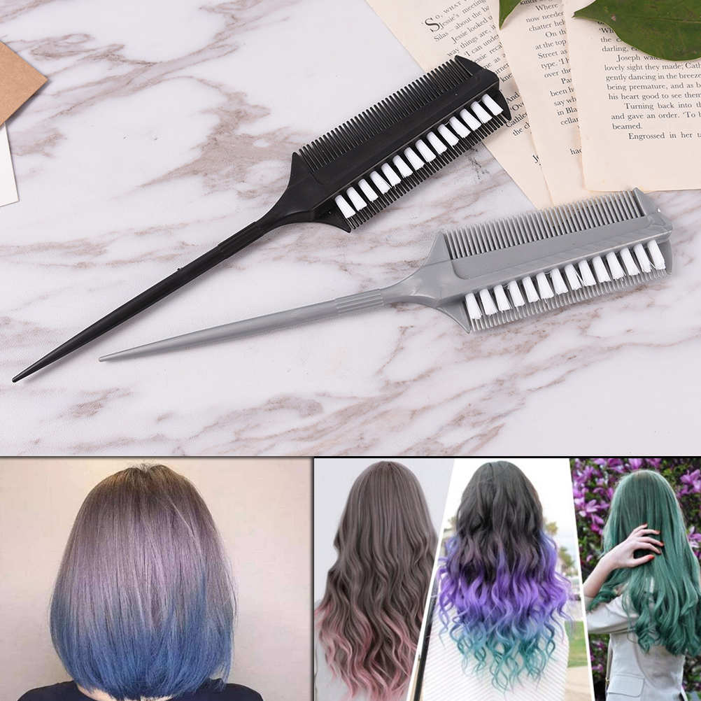Hair Color Brushes 1pc Professional Hairdressing Double Side Dye Comb Barber Tinting Combs Salon Hair Styling Tools Drying Brush