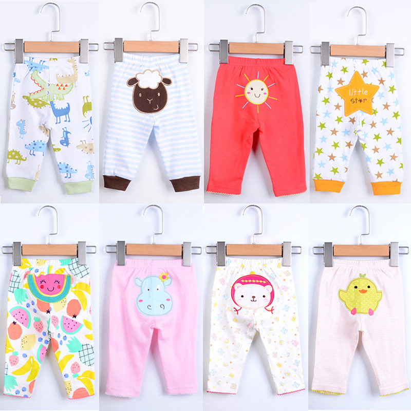 Baby Cotton Pants 5pcs/lot PP Children Clothes Babe Dinosaur Star Bird Cartoon Animal Printing Cute Boy Girl Trousers Kid Wear
