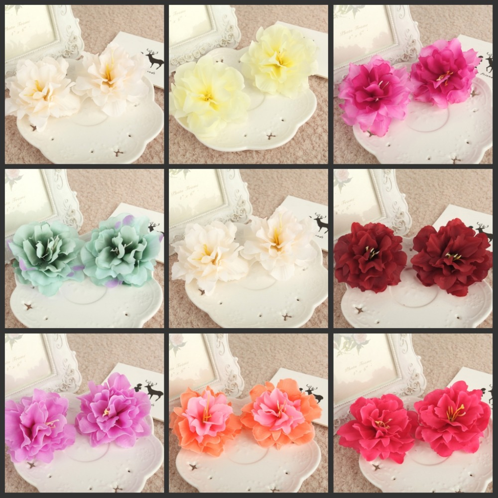 100ks * 3.15 palce (8 Cm) Umělý hedvábný květinový květ Home Garden Decor Party & Wedding Favors AFH10056