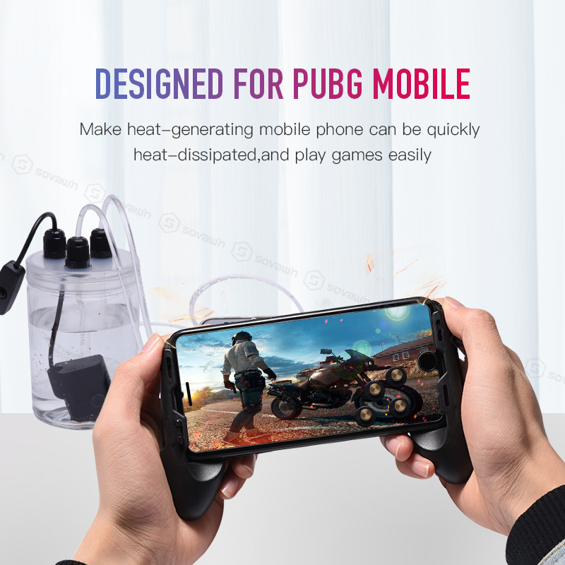 Image 2 - Sovawin Mobile Phone Cooling Fan Smartphone Pubg Controller Gamepad Cooler in Water Circulating Cooing Fan Case For iPhone 7P XR-in Mobile Phone Coolers from Cellphones & Telecommunications