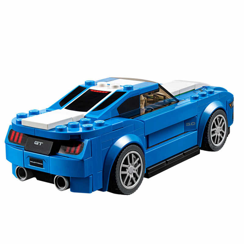 191pcs Super Racing Series Mustang GT Compatibie Building Blocks Kit Toy DIY Educational Christmas Birthday Gifts