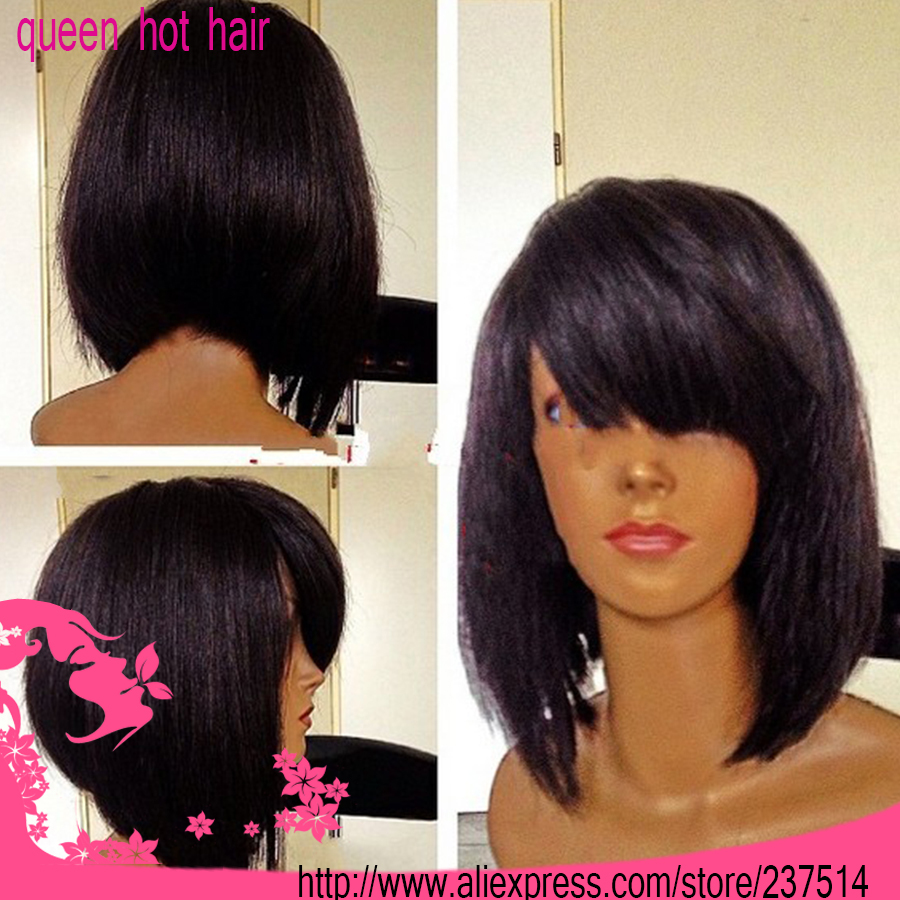Large Stock !100%Brazilian Virgin Remy Hair #1 Color Short - Bob Weave Hairstyles