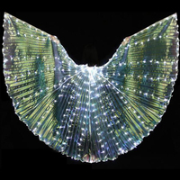 Belly Dance Wing 316 LED Isis Wings 7 Light Colors Popular Belly Dancing Stage Performance Props Wings With / Without Sticks