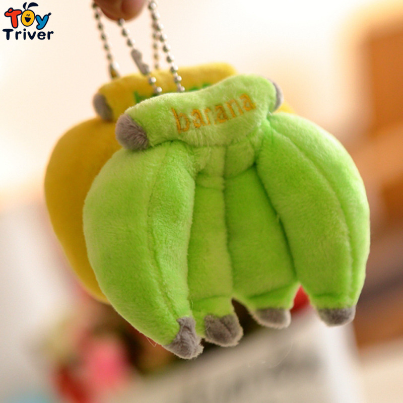 Wholesale 100pcs Plush Banana Toy Doll Stuffed Small Bananas Toys Fruit Pendant Party Birthday Gift Bag Accessory Promotional