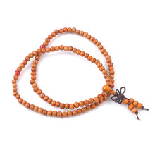 108 Beads Natural Sandalwood Buddhist Buddha Wood Prayer Bead Mala Bracelet Chinese style accessories(China)