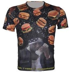 2016 new fashion men s 3d t shirt galaxy hamburger pizza bread animal print t shirt.jpg 250x250