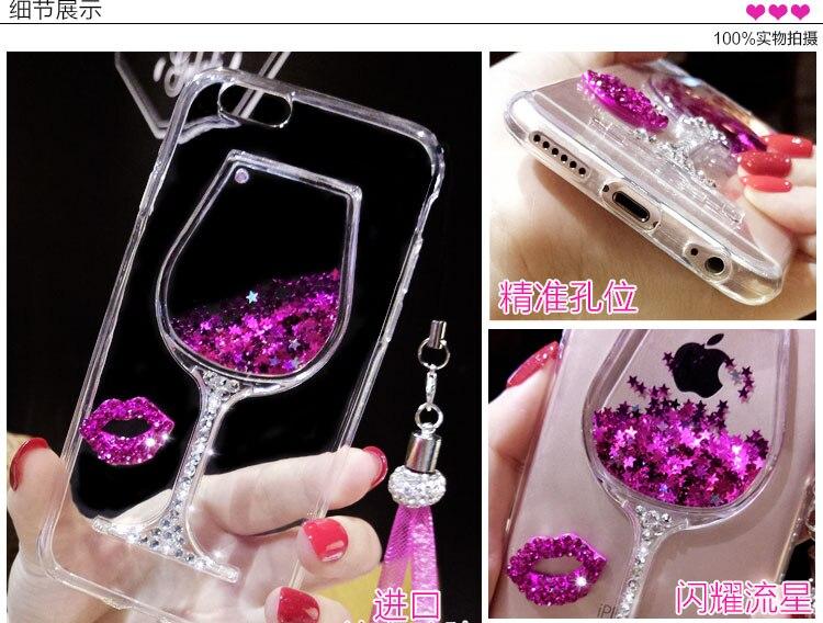 XINGDUO Quicksand Bling Rhinestone Wine Glass Mönster Telefonfodral - Reservdelar och tillbehör för mobiltelefoner - Foto 5