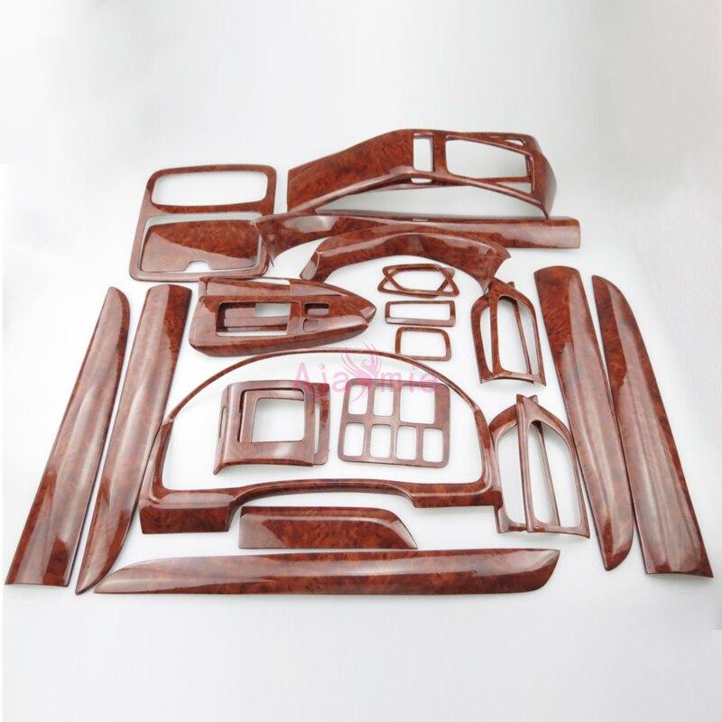 28 pcs Intérieur Bois Couleur Panneau de Garniture de Couverture de Cadre de Paquet 2003-2009 Style de voiture Pour Toyota Land Cruiser Prado FJ120 Accessoires