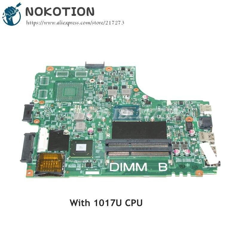 NOKOTION CN-0PTNPF 0PTNPF PTNPF MAIN BOARD For Dell Inspiron 2421 3421 Laptop Motherboard 1017U CPU DDR3 cn 0ptnpf 0ptnpf ptnpf main board for dell inspiron 3421 5421 laptop motherboard 1017u cpu ddr3