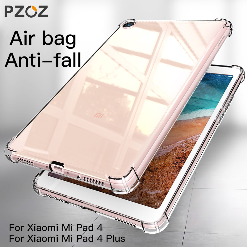PZOZ For Xiaomi mi pad 4 mipad 4plus Case Soft TPU Shockproof Protective Shell For Xiaomi MiPad4 Plus Protector Tablet Case Bag 8 case for xiaomi mi pad 4 silicone soft back cover shell for xiaomi mipad 4 case shockproof thin slim tpu protective cover