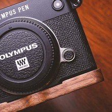 Original Walnut Wooden Wood Hand Grip Holder L Bracket Quick Release Plate fit for Olympus PEN-F Series