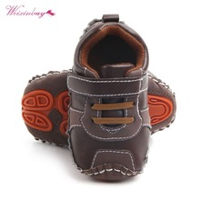 Baby Shoes Infant Anti-slip PU Leather First Walker Soft Sol