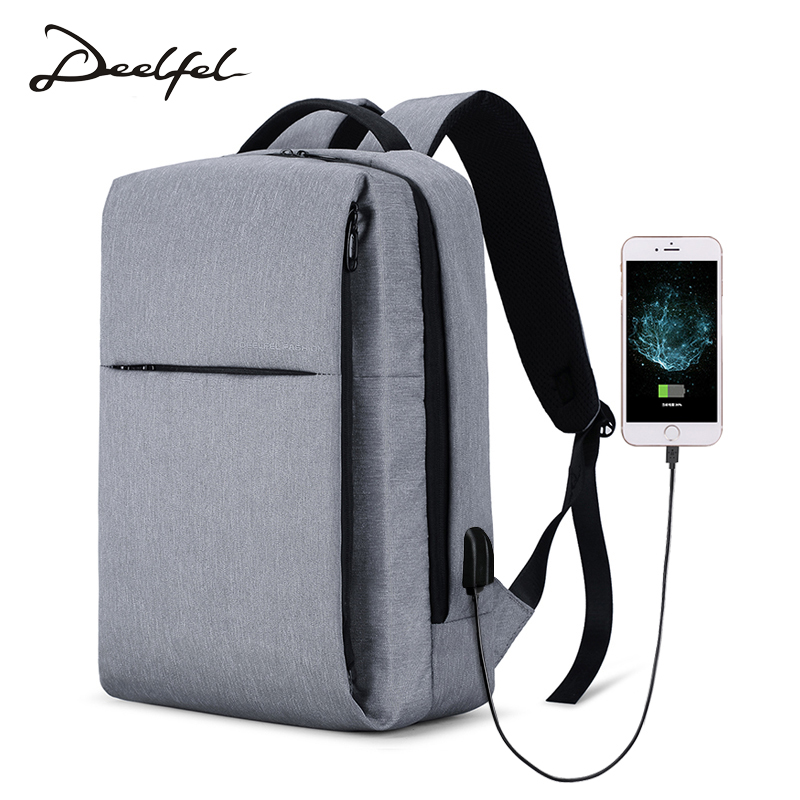 DEELFEL Men Backpack Travel Backpack 15.6 inch Computer Backpacks Male Mochila Anti-theft Waterproof Travel Bags for Men 2018