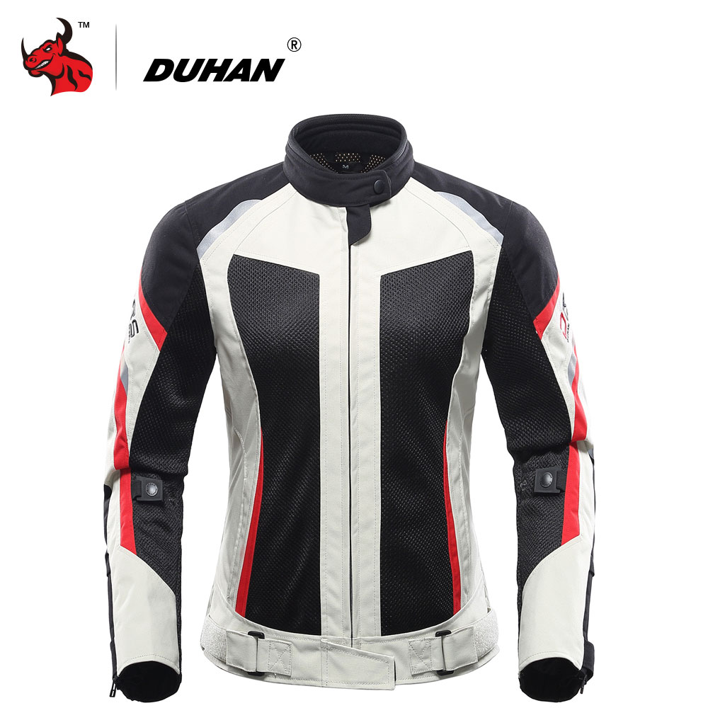 DUHAN Women Motorcycle Jacket Breathable Motorcycle Clothing Summer Women Moto Jacket And Motorcycle Pants Racing Clothes
