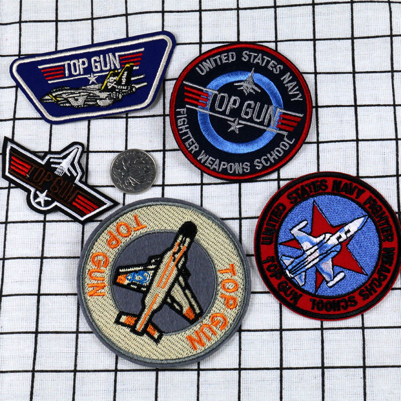 1pc Top Gun Embroidery Air Force Armband Badge Clothing Embroidered Riverdale Parches Military Patch Embroidery Clothes Patches