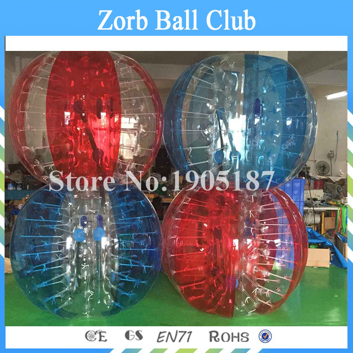 Free Shipping 4PCS(2Red+2Blue) 1.5m Size 1.0mm TPU Inflatable Bumper Ball, Bubble Football,Bubble Soccer Ball On Sale