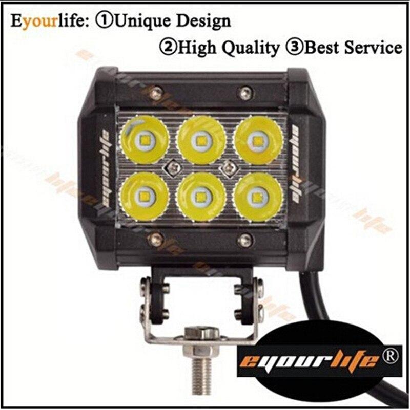 Eyourlife Led Headlight ATV SUV 24v Truck Lamp Led Work Light 4 Inch 18w  Led Driving Light  IP 68 Light Work for 4x4 Offroad 2pcs truck light 4 leds lamp