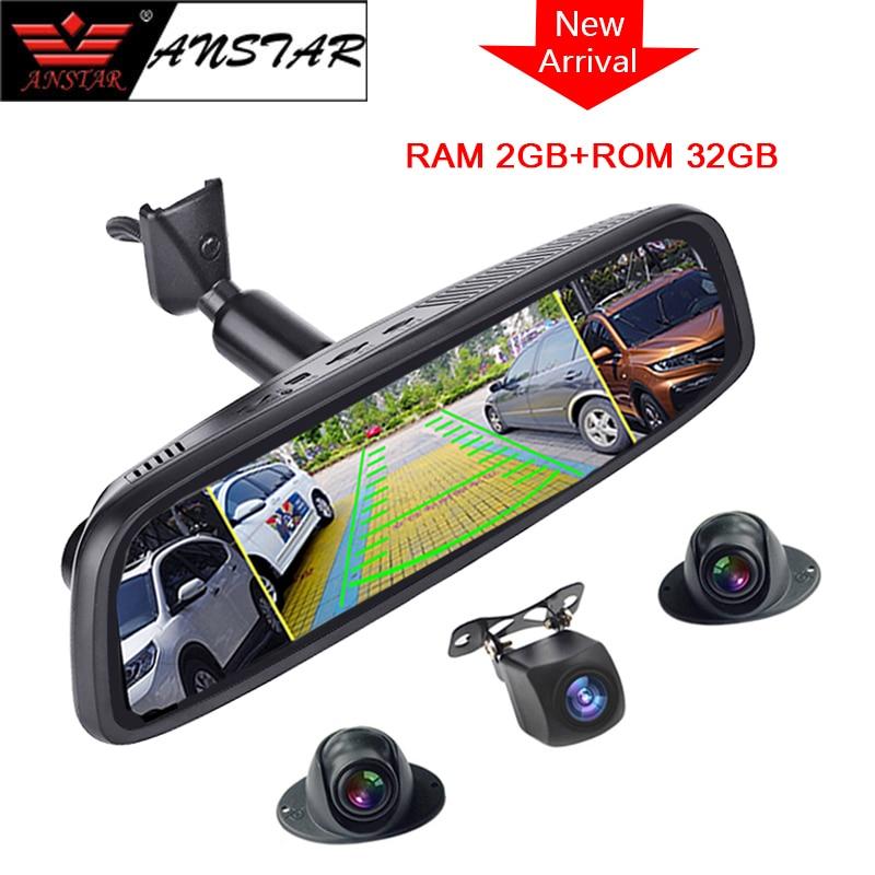 2019 Anstar 10 Rearview Mirror DVR 4CH Cameras 2GB 32GB Car Camera 4G Android Dash Cam