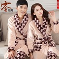 Albornoz Hombre Rushed Sale Kimono 2016 Couples In A Long Gown Coral Bathrobe Towel Two Piece Flannel Female Winter Thickening