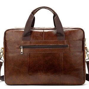 Image 5 - Westal ombro mensageiro das mulheres dos homens bolsa de couro genuíno para documento bolsa de negócios masculino feminino portátil a4 portafolio