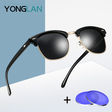 YONG LAN Sunglasses Prescription Myopia Lens Metal Glasses Frame oculos de grau masculino Assembly 2pcs Lens lentes de sol блуза jacqueline de yong jacqueline de yong ja908ewbwwx1