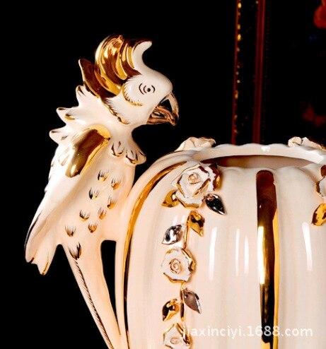 Ourui Ya perroquet relief haut de gamme C céramique européenne décoration salon entrée affichage technologie