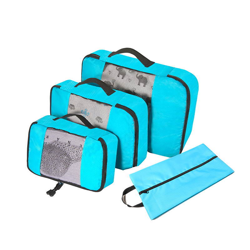 Packing Cubes 4 Sets Latest Design Travel Luggage Organizers Include Waterproof Shoe Convenient Packing Pouches